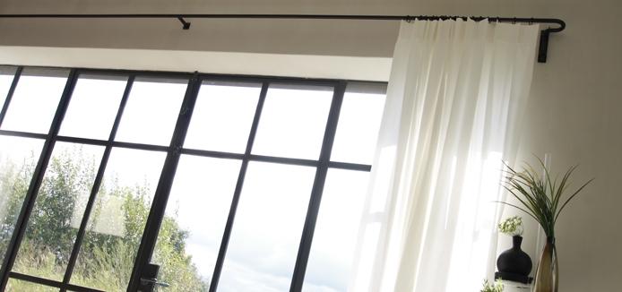 De mooiste roede voor je gordijnen: bekijk alle zwarte gordijnroedes