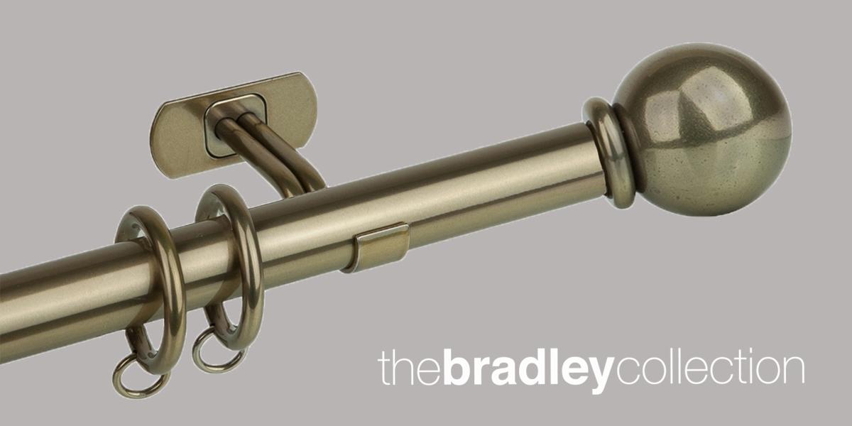 Gordijnroede Bradley Steel Brass Toned 25mm