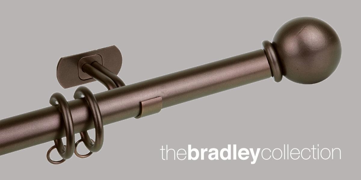 Gordijnroede Bradley Steel Bronzed 25mm