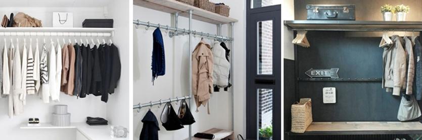 garderobe roede steigerbuis kapstok