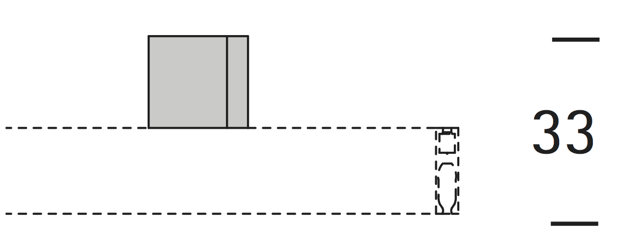 EXTRA PLAFONDSTEUN 2CM CUBUS voor 16mm rail