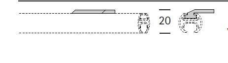 EXTRA PLAFONDSTEUN PLAT INTERSTIL voor Sphäre en W3