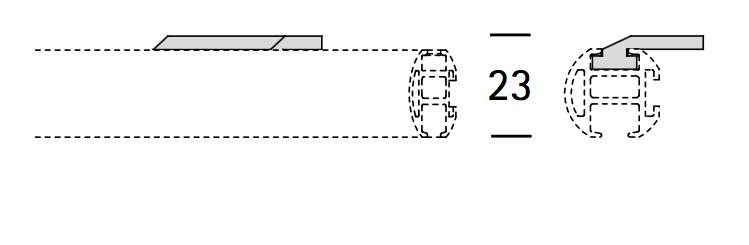 EXTRA PLAFONDSTEUN PLAT voor ROND 22MM