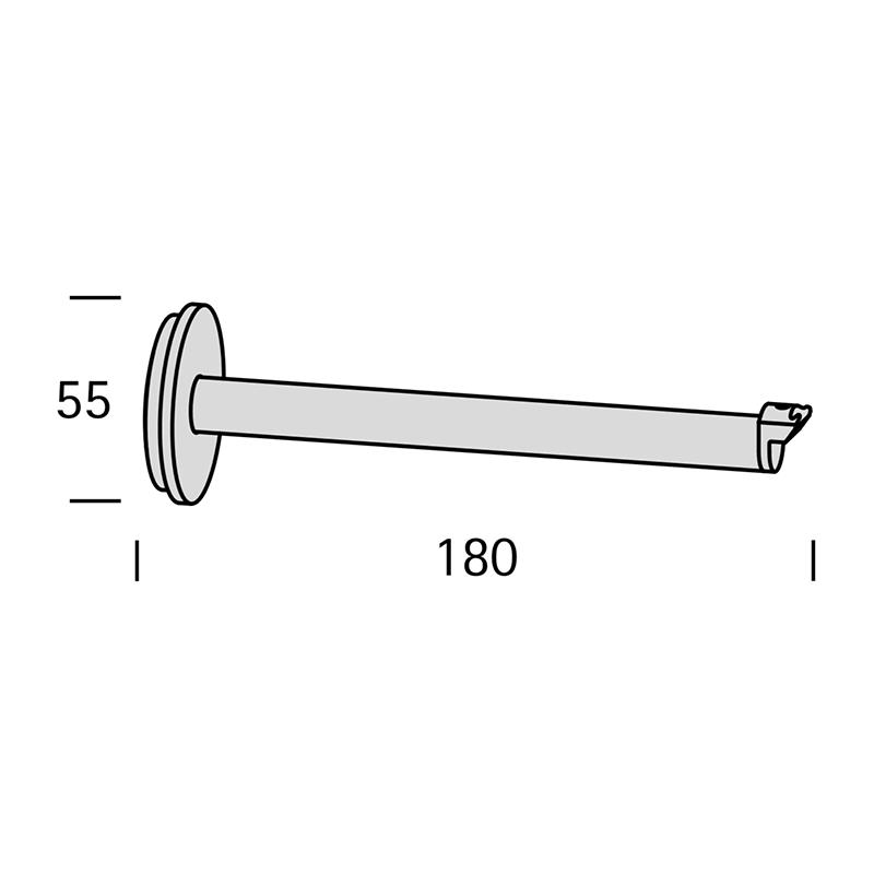 RONDE WANDSTEUN 18CM voor Interstil railroede 30mm en W3