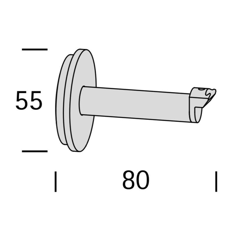 RONDE WANDSTEUN 8CM voor Interstil railroede 25mm en Trim.2