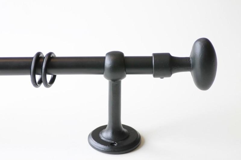 GORDIJNROEDE ORVALL ANTIEK ZWART 20mm