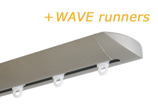INTERSTIL RAILROEDE W6.1 NIKKEL MAT met plafondsteun en Wave runners