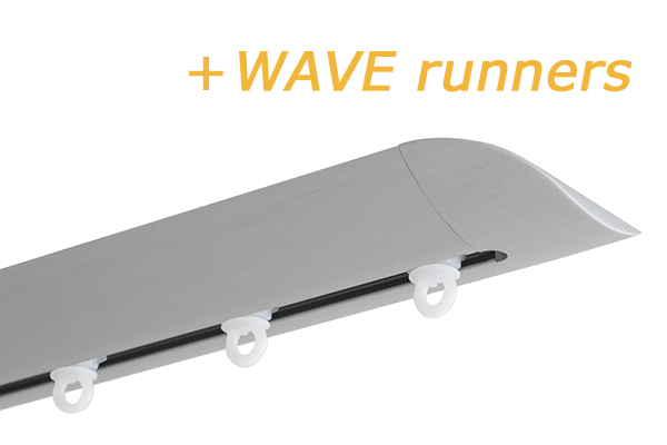 INTERSTIL RAILROEDE W6.2 ALUMINIUM met plafondsteun en Wave runners