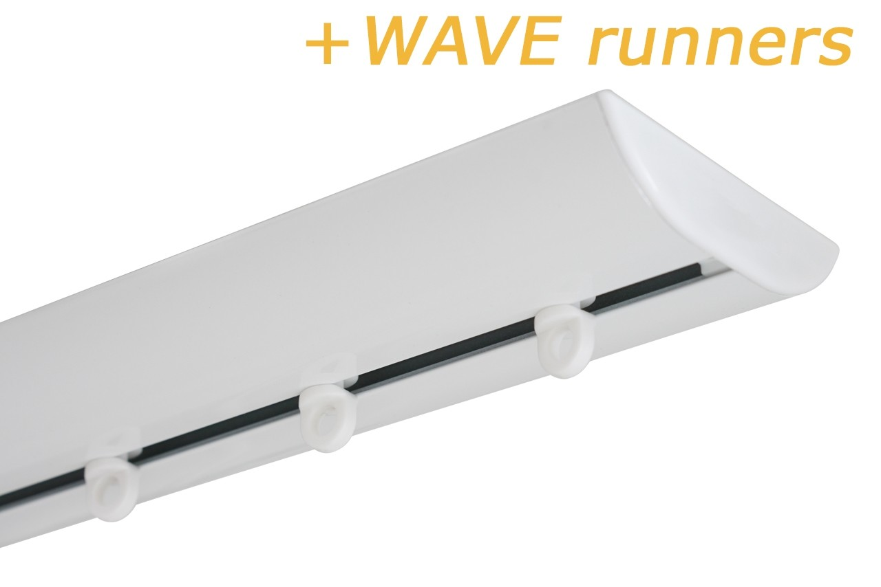 GORDIJNRAILS DS XL WIT + WAVE RUNNERS