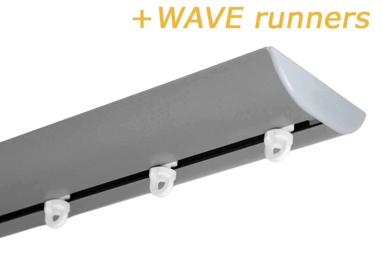 GORDIJNRAILS DS XL ZILVER + WAVE RUNNERS