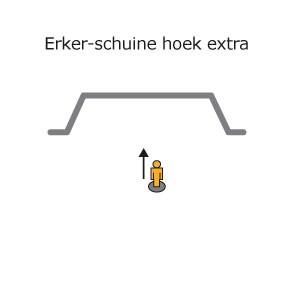 ERKER + SCHUINE HOEK EXTRA in rail gebogen