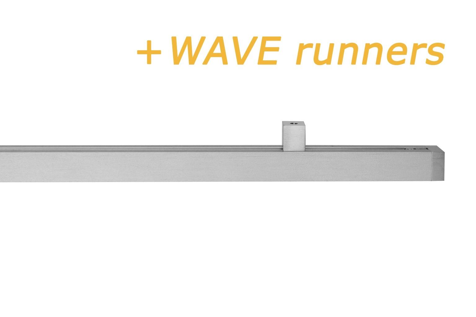 INTERSTIL RAILROEDE CUBUS 2 WAVE ALUMINIUM 20MM