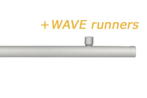 RAILROEDE CORPUS WAVE ALUMINIUM / WIT 20MM INTERSTIL