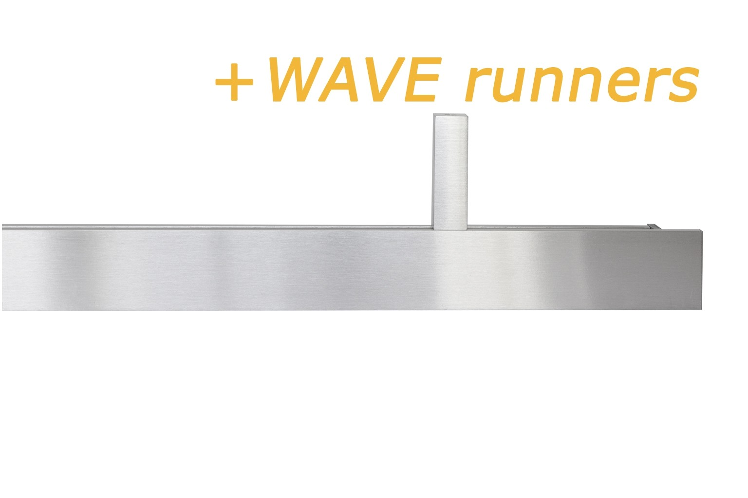 INTERSTIL RAILROEDE SPHERE WAVE EDELSTAAL 35MM - met 5cm afgeschuinde plafondsteunen