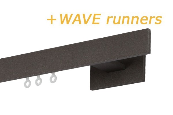 RAILROEDE INDEX1-W ANTRACIET 28MM INTERSTIL -  - met Wave runners