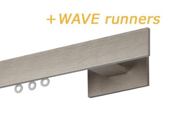 RAILROEDE INDEX1-W NIKKEL MAT 28MM INTERSTIL - met Wave runners