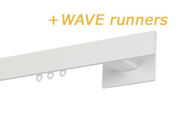 RAILROEDE INDEX1-W WIT 28MM INTERSTIL - met Wave runners