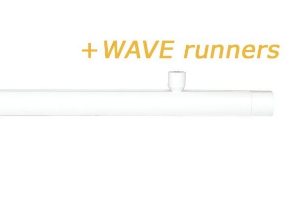 RAILROEDE CORPUS-W 25MM WIT INTERSTIL met 2cm plafondsteunen