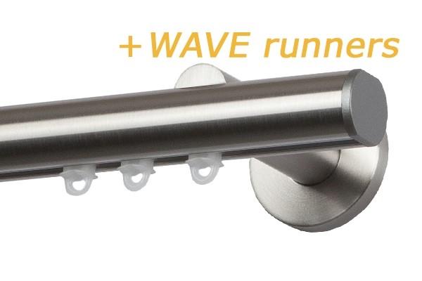 RAILROEDE MODUS-W CLASSIC 25MM EDELSTAAL INTERSTIL met 18cm wandsteunen