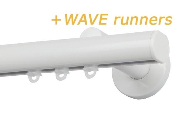 RAILROEDE MODUS-W CLASSIC 25MM WIT INTERSTIL met 18cm wandsteunen