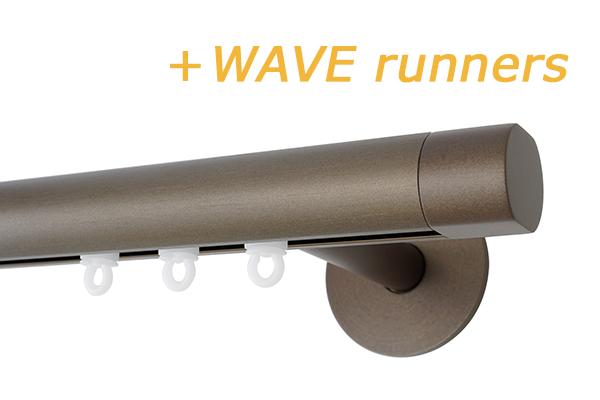 RAILROEDE SINUS.4-W ROND 25MM BRONS INTERSTIL met 8/13cm wandsteunen