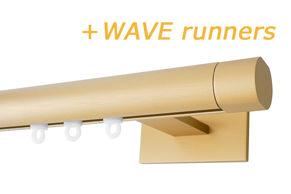 RAILROEDE SINUS.1-W LUXE 25MM MESSING MAT INTERSTIL met 13cm wandsteunen