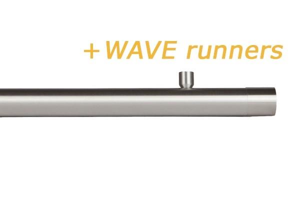 RAILROEDE W3 CORPUS-W 30MM EDELSTAAL INTERSTIL met 2cm plafondsteunen