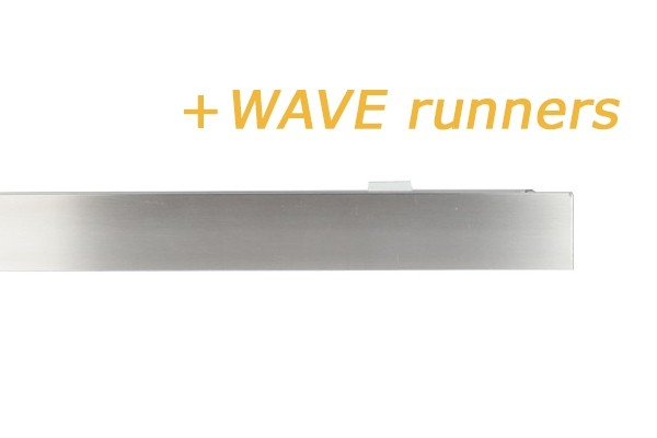 RAILROEDE SPHERE-W 35MM EDELSTAAL INTERSTIL - met Wave runners