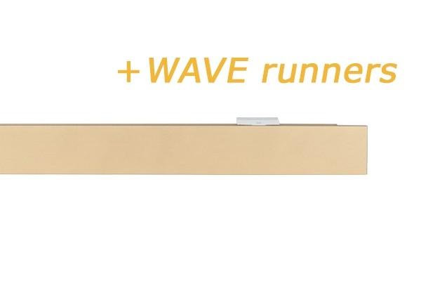 RAILROEDE SPHERE-W 35MM MESSING MAT INTERSTIL - met Wave runners