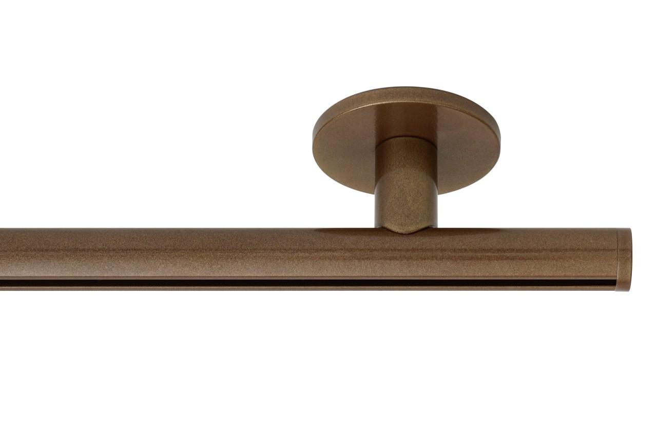 RAILROEDE Roederail MAATWERK XXL Design 22MM - LICHT BRONS - met luxe plafondsteun 3cm en eindknop DISK