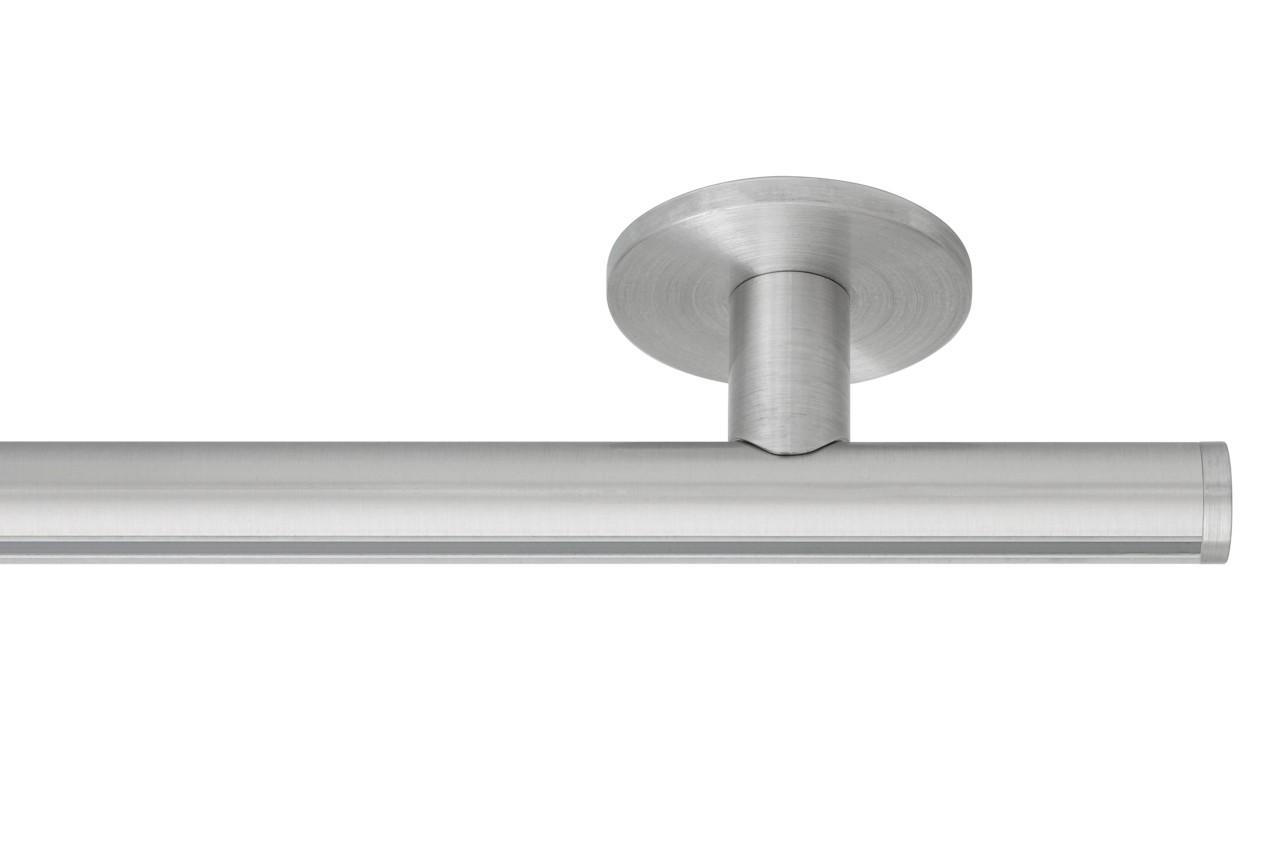 RAILROEDE Roederail MAATWERK XXL Design 22MM - RVS-Look - met luxe plafondsteun 3cm en eindknop DISK
