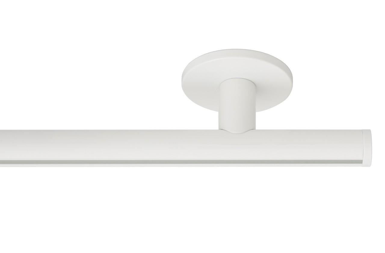 RAILROEDE Roederail MAATWERK XXL Design 22MM - WIT - met luxe plafondsteun 3cm en eindknop DISK