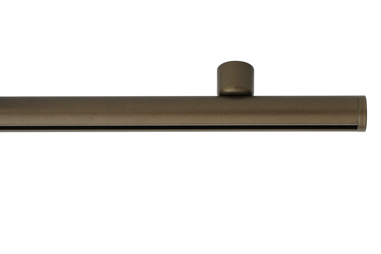 RAILROEDE Roederail MAATWERK XXL Design 22MM - DONKER BRONS - met plafondsteun 2cm en eindknop DISK