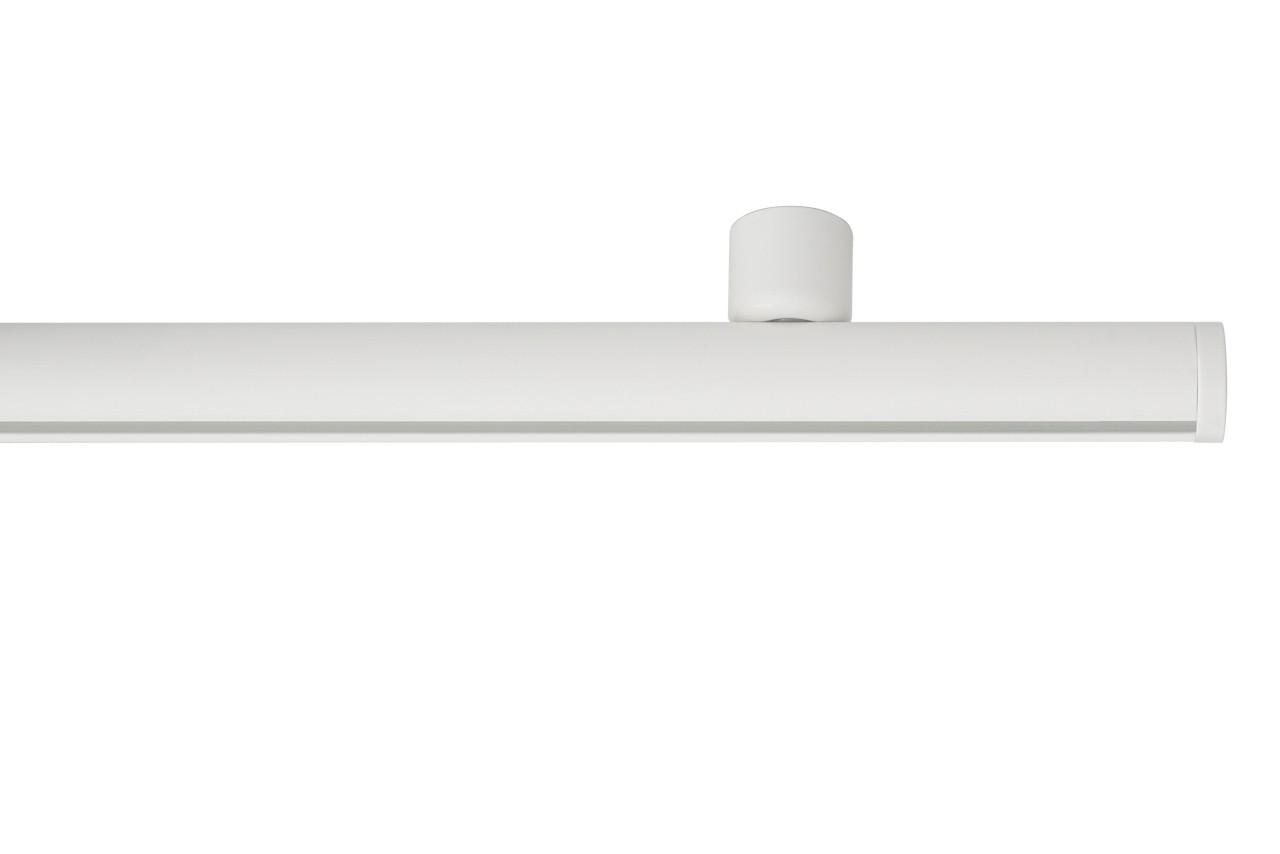 RAILROEDE Roederail MAATWERK XXL Design 22MM - WIT - met plafondsteun 2cm en eindknop DISK