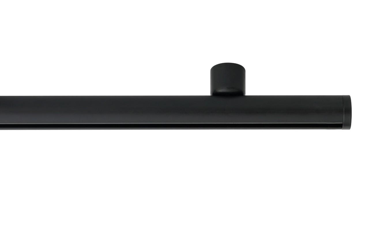 RAILROEDE Roederail MAATWERK XXL Design 22MM - MAT ZWART - met plafondsteun 2cm en eindknop DISK