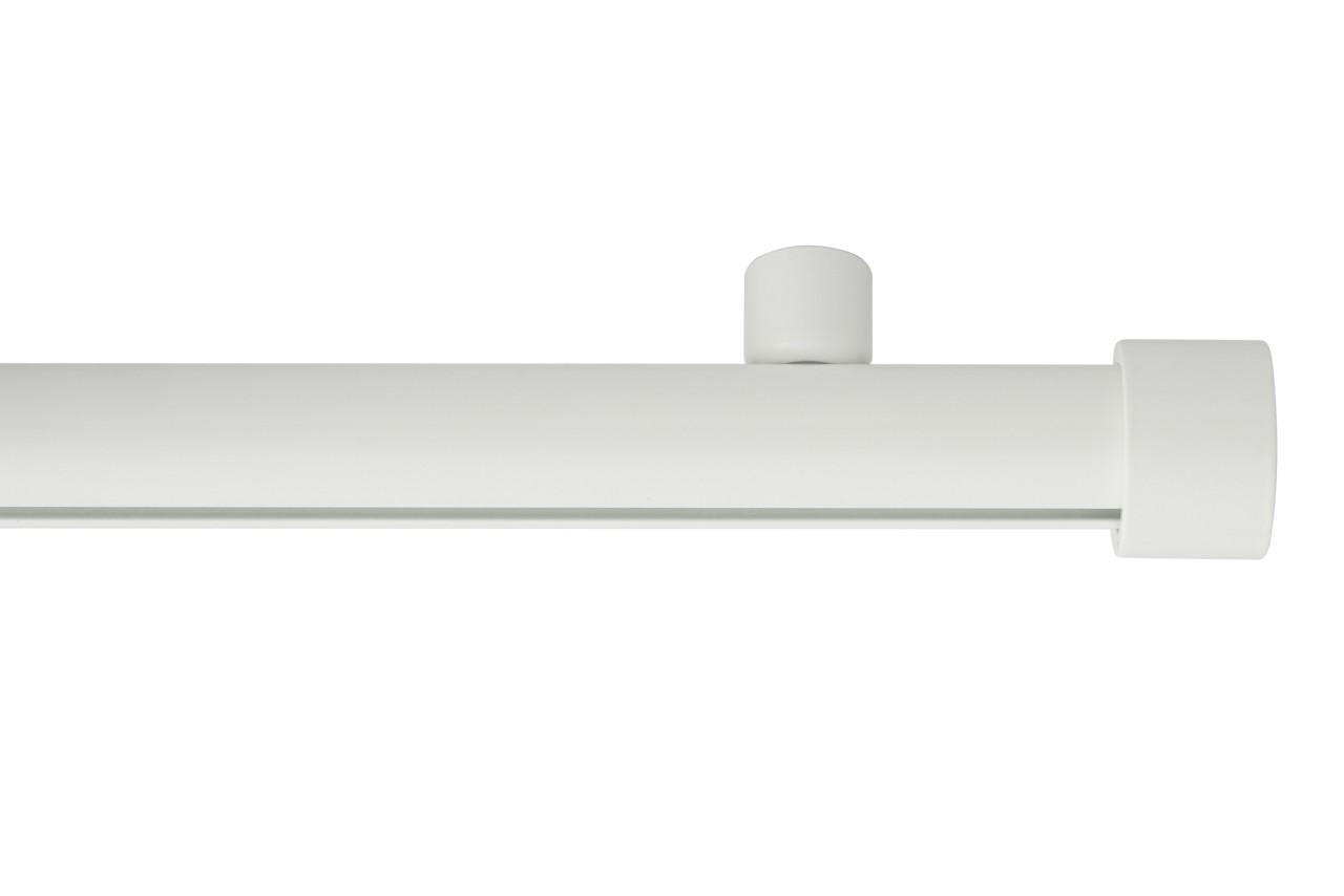 RAILROEDE Roederail MAATWERK XXL Design 28MM - WIT - met plafondsteun 2cm en eindknop CAP