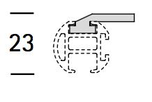 EXTRA PLAFONDSTEUN PLAT voor Intersti
