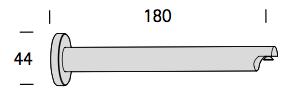 EXTRA WANDSTEUN 18CM BRONS / MESSING / NIKKEL MAT 20mm