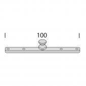 RAILVERBINDER INTERSTIL - RECHT, voor plafondsteun Corpus 2cm en 5cm