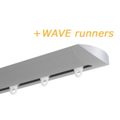 INTERSTIL RAILROEDE W6.1 ALUMINIUM met plafondsteun en Wave runners