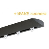 INTERSTIL RAILROEDE W6.1 ANTRACIET met plafondsteun en Wave runners