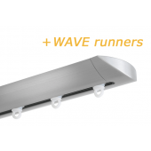 INTERSTIL RAILROEDE W6.1 EDELSTAAL met plafondsteun en Wave runners