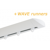 INTERSTIL RAILROEDE W6.1 WIT met plafondsteun en Wave runners