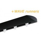 INTERSTIL RAILROEDE W6.1 ZWART met plafondsteun en Wave runners