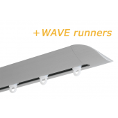 INTERSTIL RAILROEDE W6.2 ALUMINIUM met plafondsteun en Wave runners
