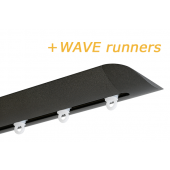 INTERSTIL RAILROEDE W6.2 ANTRACIET met plafondsteun en Wave runners