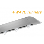 INTERSTIL RAILROEDE W6.2 EDELSTAAL met plafondsteun en Wave runners