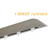 INTERSTIL RAILROEDE W6.2 NIKKEL MAT met plafondsteun en Wave runners