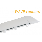 INTERSTIL RAILROEDE W6.2 WIT met plafondsteun en Wave runners