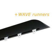 INTERSTIL RAILROEDE W6.2 ZWART met plafondsteun en Wave runners